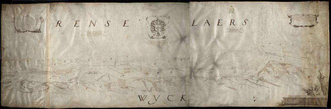 Map of Rensselaerswyck by Gillis van Scheyndel, 1631–1632