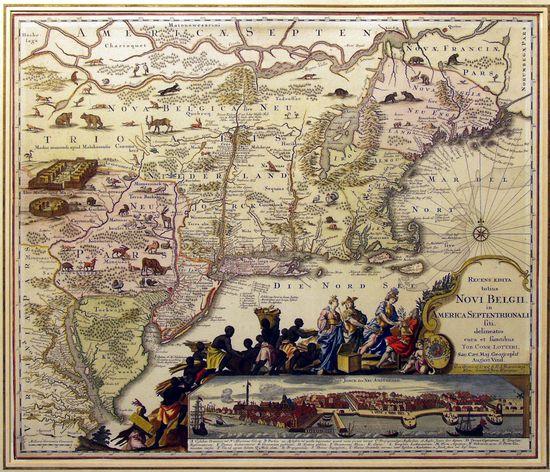 16 Recens edita totius Novi Belgii in America Septentrionali 1757